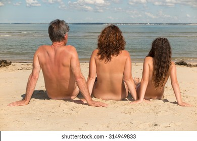 Nudist family picture