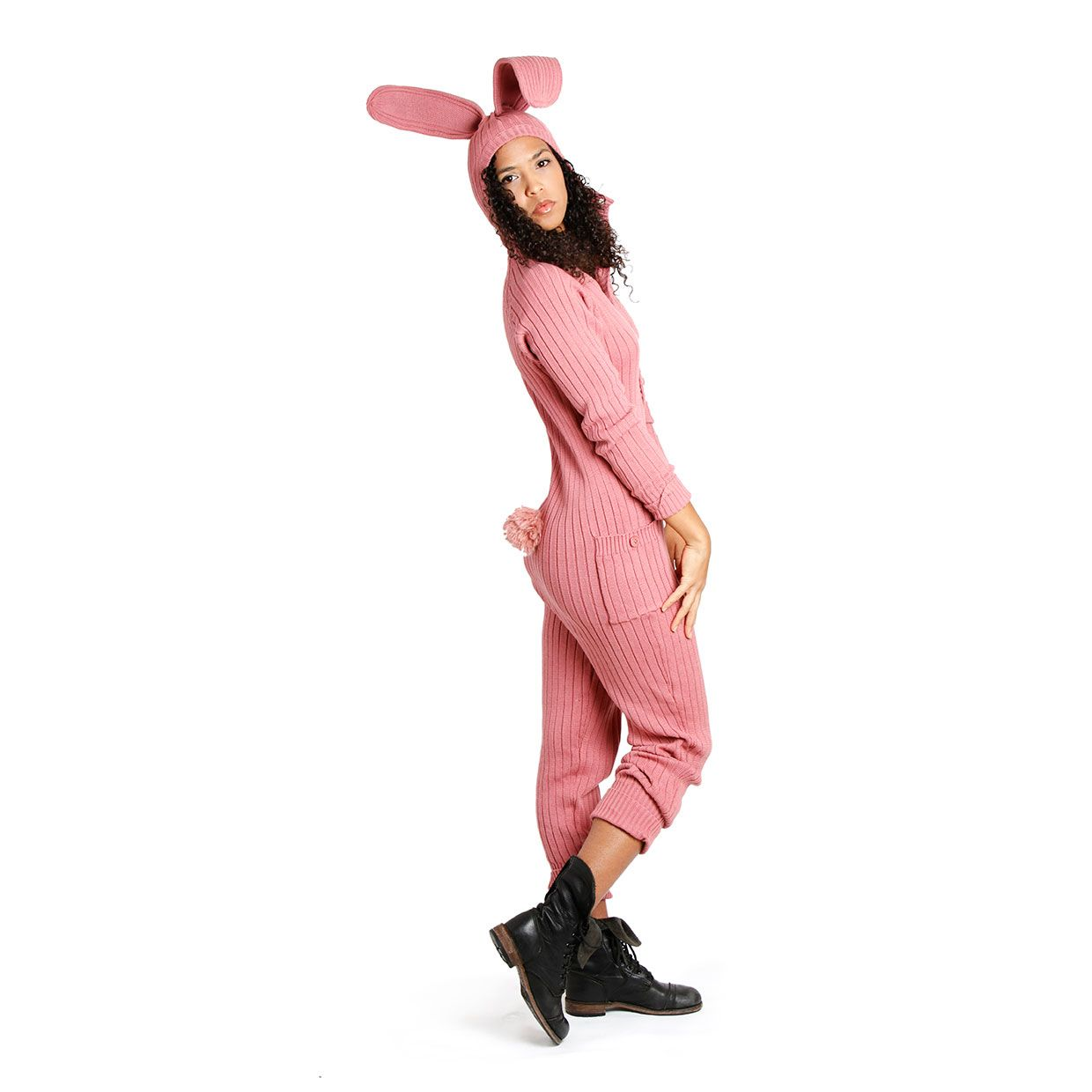 Adult pink bunny suit