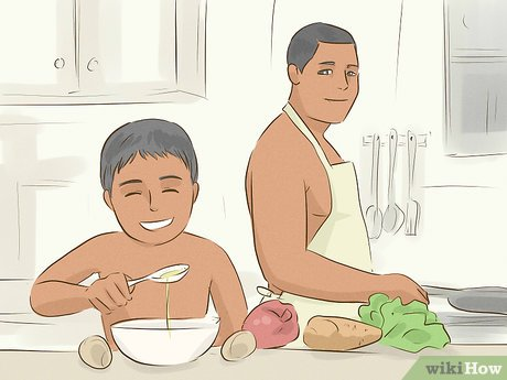 Nudist young boy family
